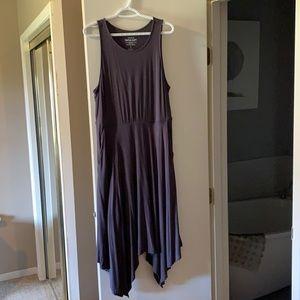 Torrid - Super soft Grey Jersey dress sharkbite 1X
